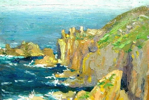 'Land's End, Cornwall', One of Four Landscapes by Lily Bell Rhodes