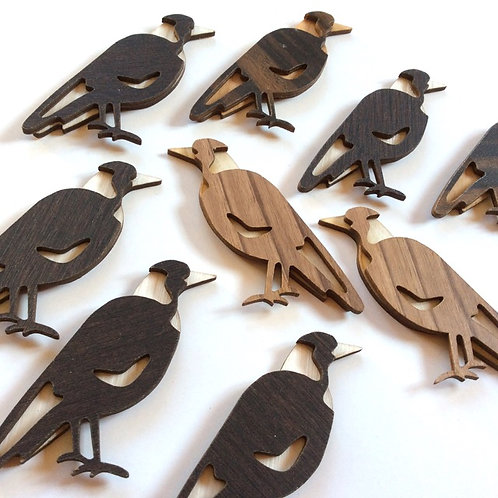 Recycled Timber Veneer Magpie