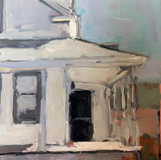 abandoned home northern quebec 5x7 oil o