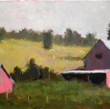 two barns in sidelight