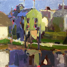 downtown middlebury 5x10 oil on plywood2