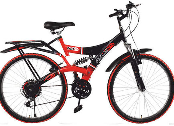 Atlas Crest 7 Speed 26T Red and Black