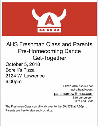 CANCELLED: Freshman Parent Pre-Homecoming Dance Get-Together
