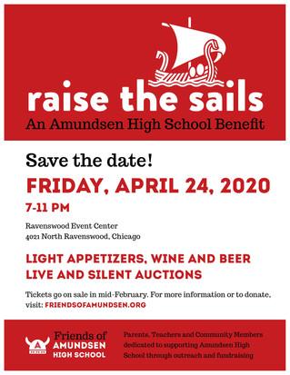 Save the Date! Friday, April 24 - Raise the Sales: An Amundsen High School Benefit