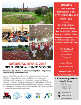 Volunteers Wanted: AHS Open House on November 5th!