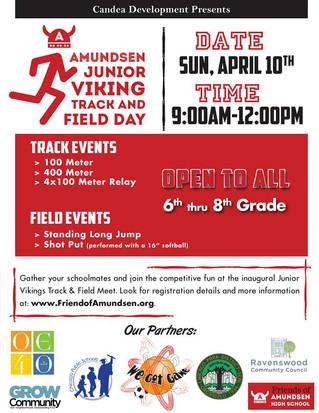 Friends of Amundsen Hosts Amundsen Jr Viking Track & Field Day