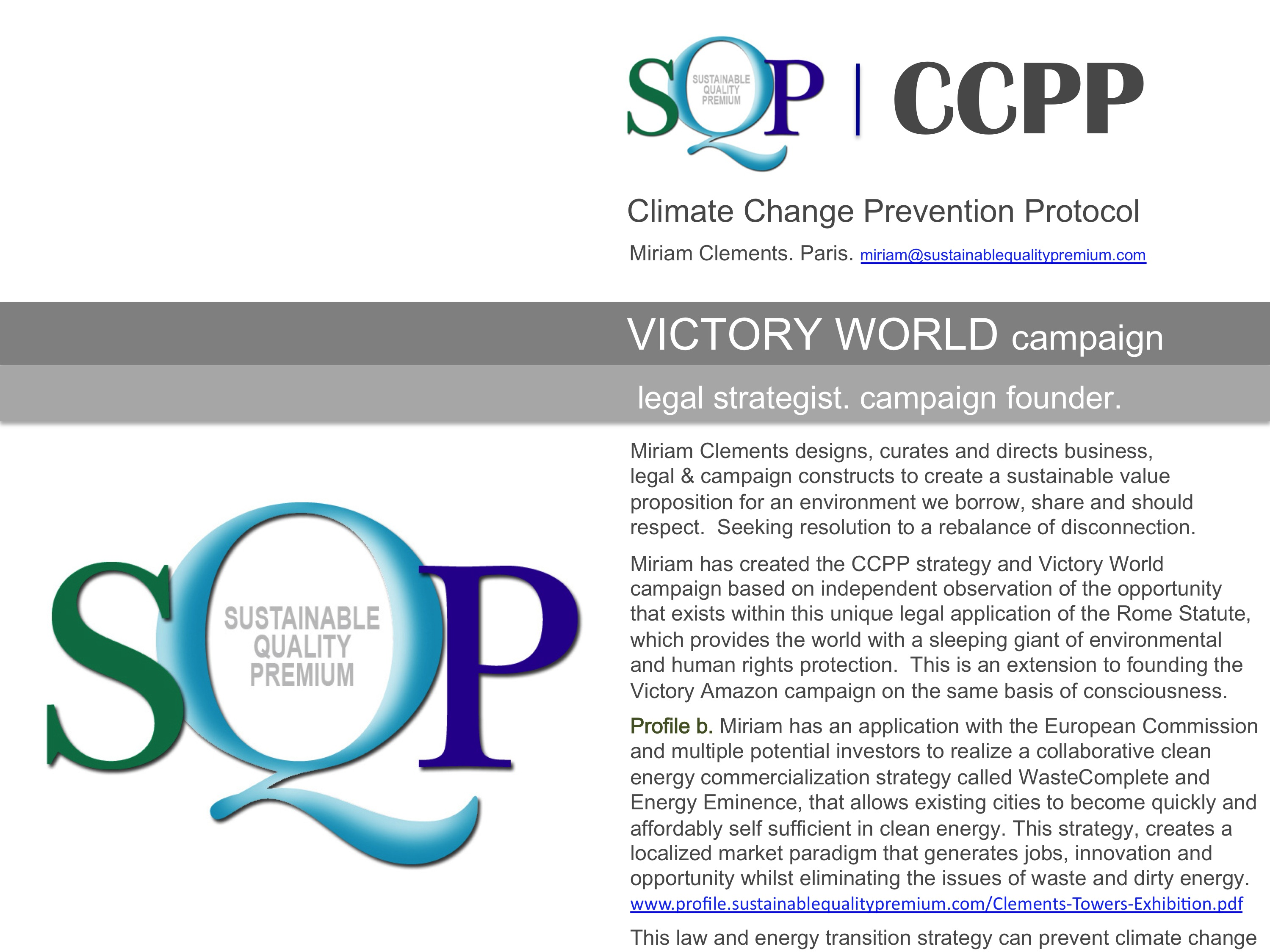 SQP CCPP. campaign founder.