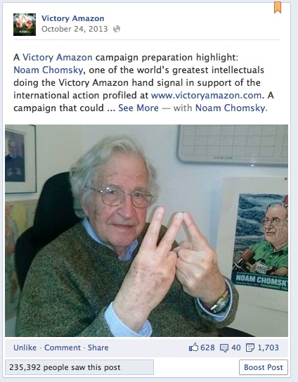 Noam Chomsky for Victory Amazon