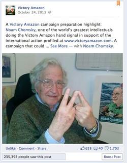 Noam Chomsky for Victory Amazon