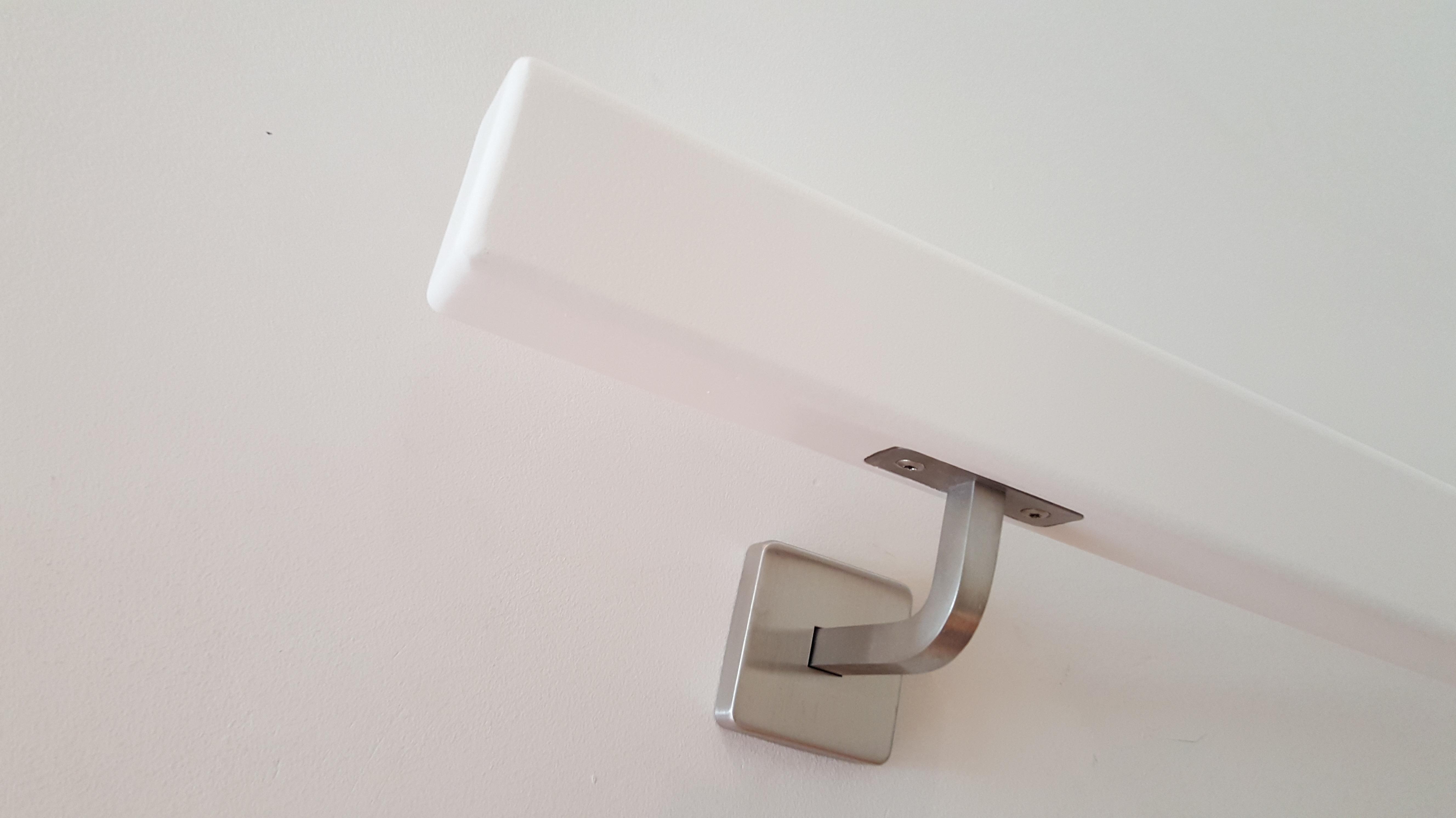 Rechteckhandlauf weiss 60 x 40 mm