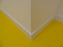 Hart PVC M2 weiss RAL 9003, 60/8 mm