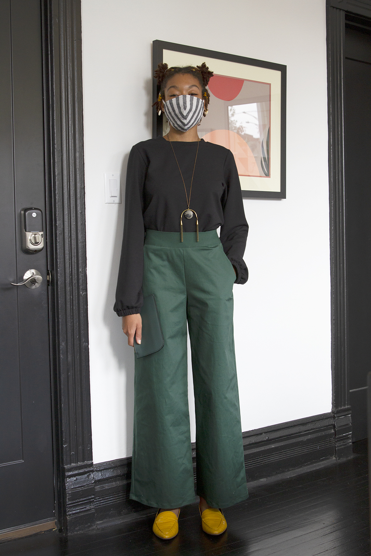 Melanie Sweatshirt, Luciana Trousers, Stripe Mask