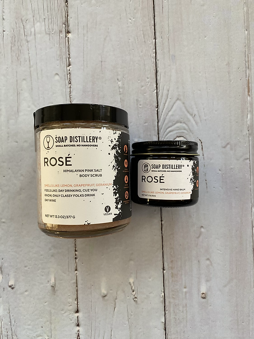 Rosé Winter Skincare from Soap Distillery