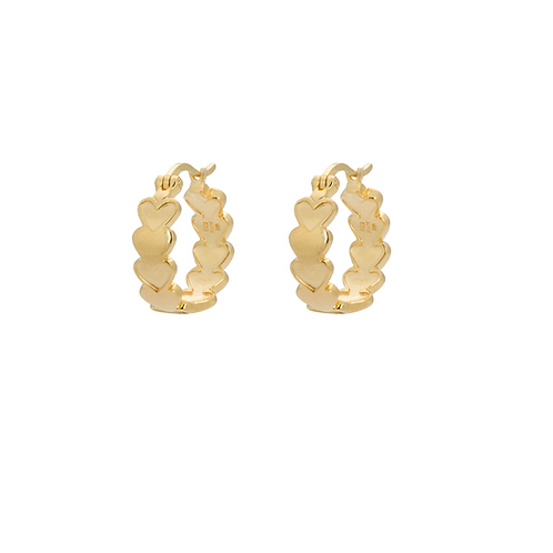 OORBELLEN ANNA+NINA AMOR PLAIN RING EARRINGS