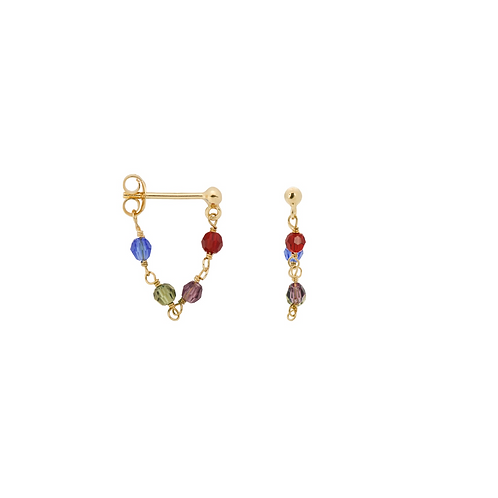 ENKELE OORBEL ANNA+NINA SINGLE MUSE CHAIN EARRING
