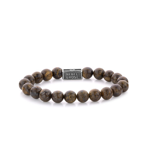 ARMBAND R&R BRONZITE BROWN - 8 MM