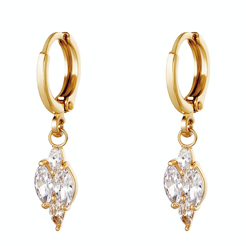 OORBELLEN SHINING DIAMOND