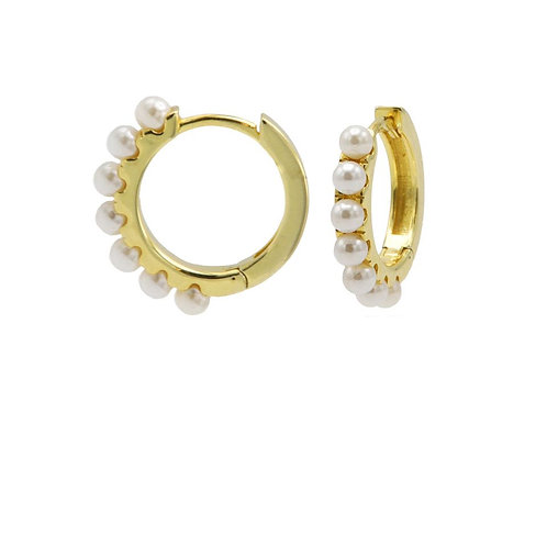 OORBELLEN KARMA HOOPS PRETTY PEARLS