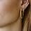 Thumbnail: OORBELLEN ANNA+NINA CLUSTER HOOP EARRING