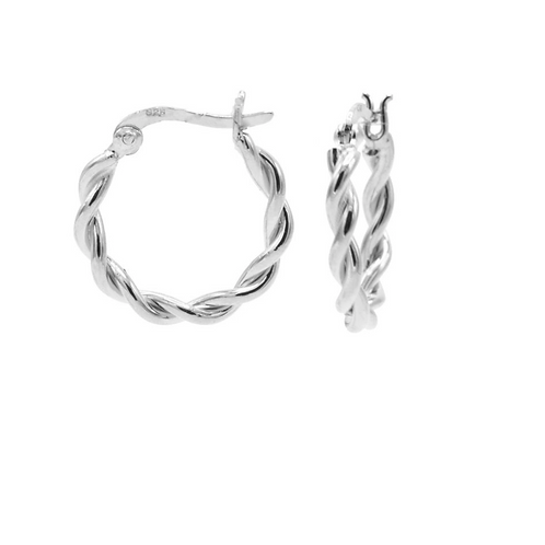 OORBELLEN KARMA HOOPS TWISTED SMALL