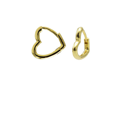 OORBELLEN KARMA PLAIN HINGED HEART HOOPS