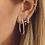 Thumbnail: OORBELLEN ANNA+NINA LINK HOOP EARRINGS