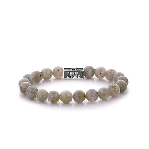 ARMBAND R&R LABRADORITE SHIELD 925 - 8 MM