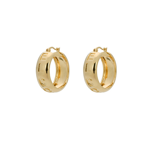 OORBELLEN ANNA+NINA EL CORAZON HOOP EARRINGS