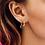 Thumbnail: OORBELLEN ANNA+NINA STARRY RING EARRINGS