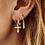 Thumbnail: ENKELE OORBEL ANNA+NINA MADONNA CROSS RING