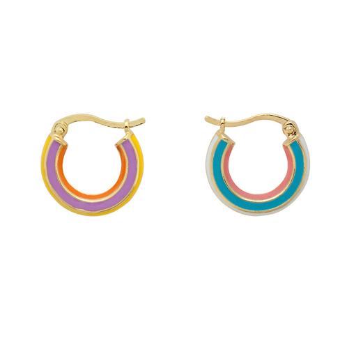 OORBELLEN ANNA+NINA RAINBOW RING EARRINGS