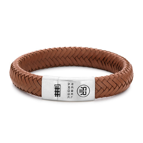 ARMBAND R&R BRAIDED OVAL 925 - HANDSOME IN KHAKI