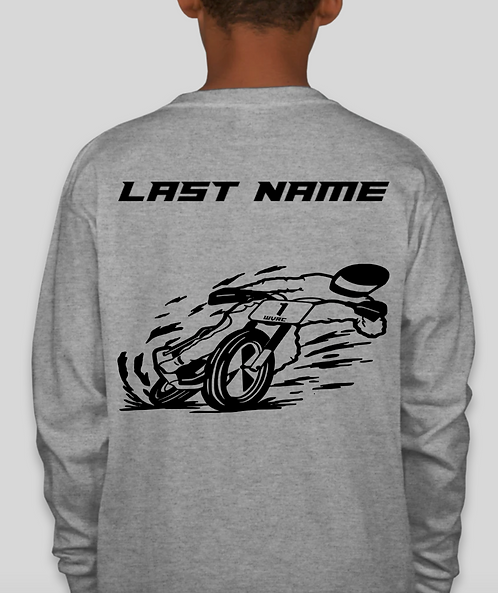 WVR Kids Long Sleeve T-Shirt with Last Name