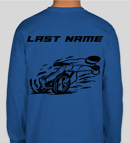 WVR Long Sleeve T-Shirt with Last Name
