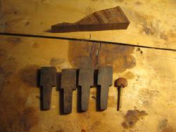 rose wood peg making