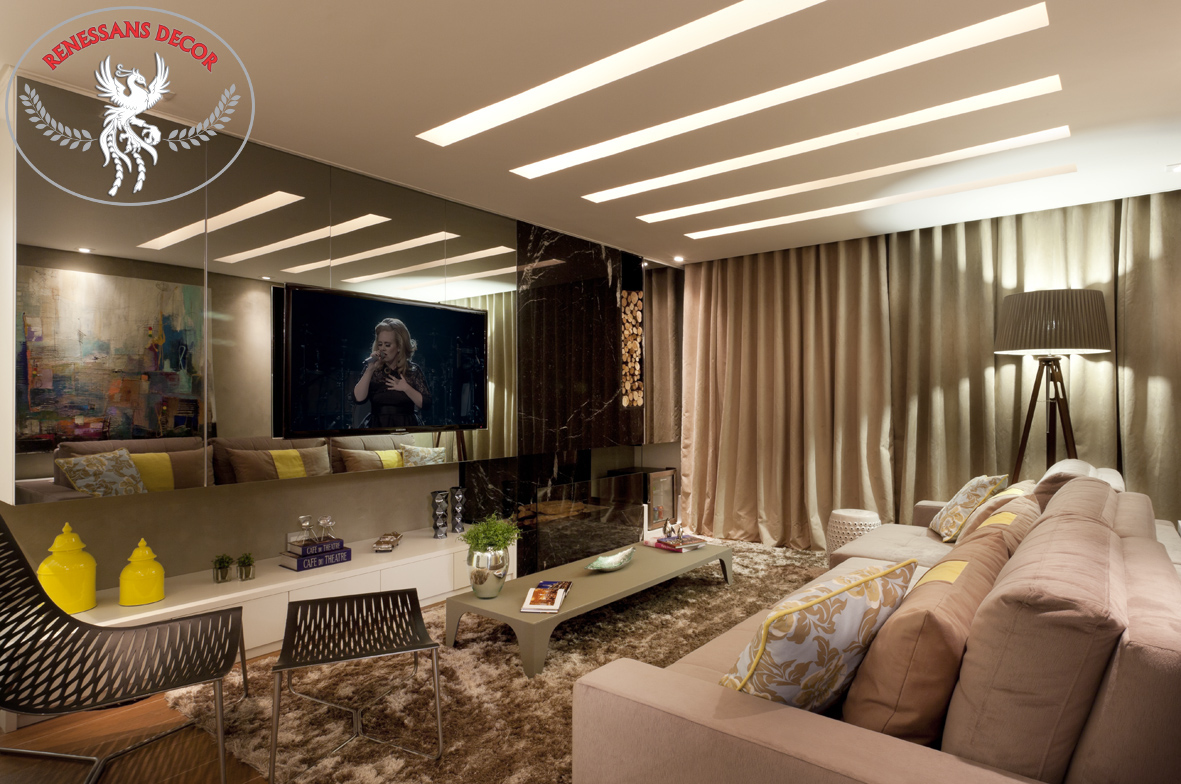Sala-de-tv-decorada-com-cortina-blecaute-renessans