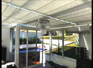 Cortina para Teto de vidro ou Coberturas em vidro