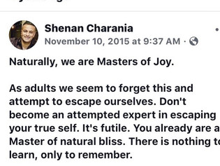 You Are A Master Of Joy