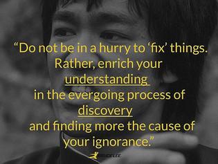 Seek to Understand, Not Fix.