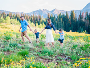 Little Boys and Wildflowers   Utah Family Photographer   The Crane Family