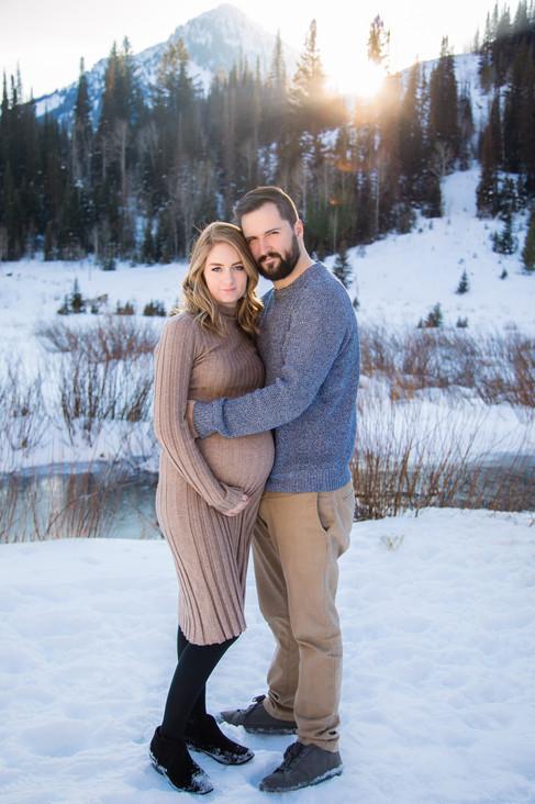 Utah Maternity Photographer   Big Cottonwood Canyon