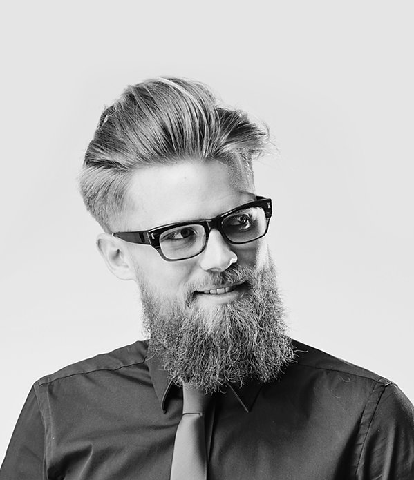 mannequin barbu avec lunette