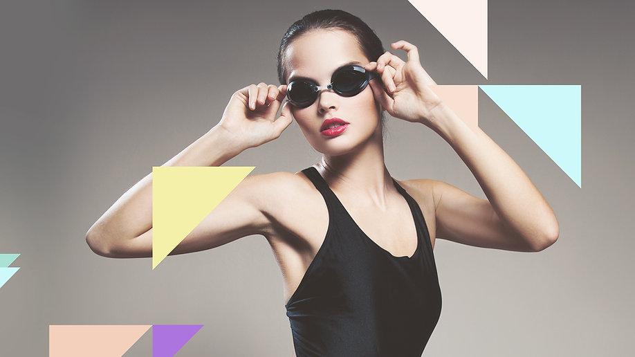 Model Wears Swimwear