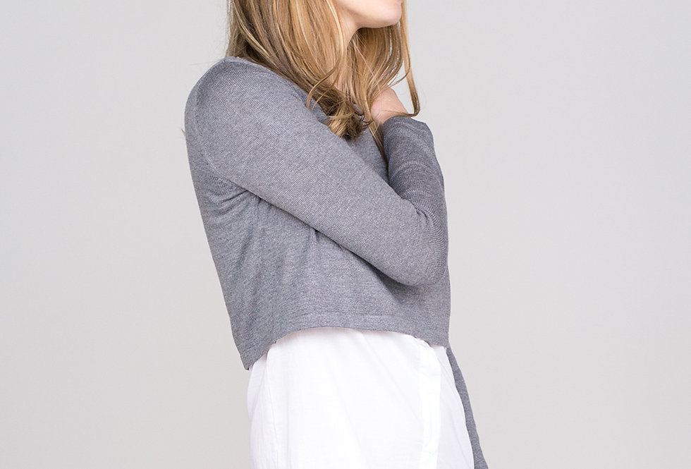 Womens Grey Marl Sweater
