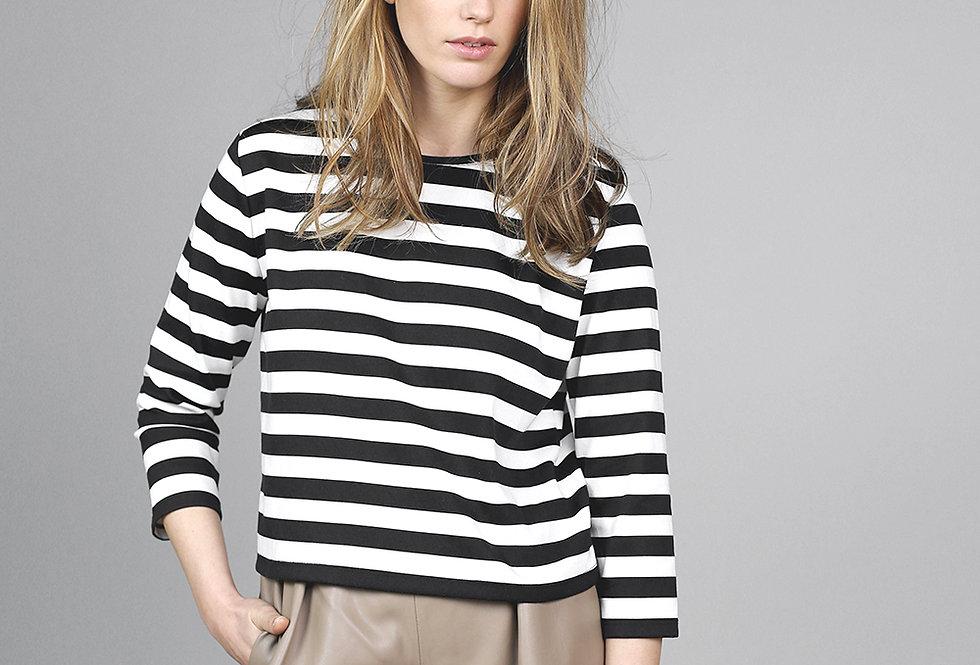 Ladies Striped Long Sleeve Top