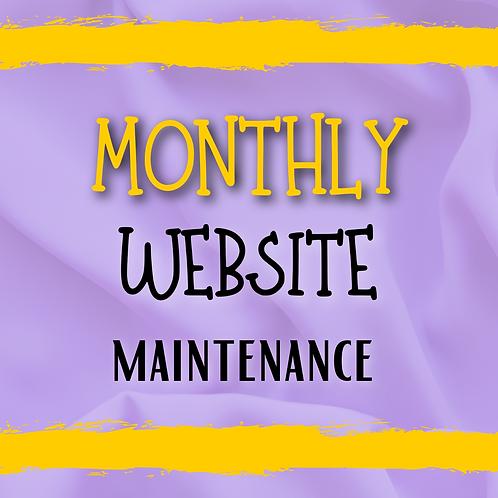 Website Management (Monthly)