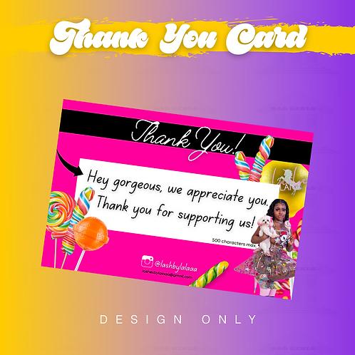 """""""Thank You"""" Card Design"""