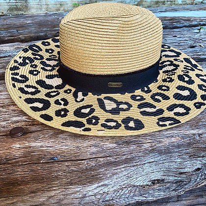 Cheetah Straw Hat Dark