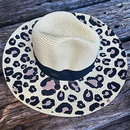 Cheetah Straw Hat Light
