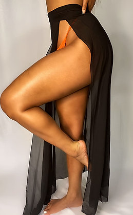 Black TRivera Wrap Skirt
